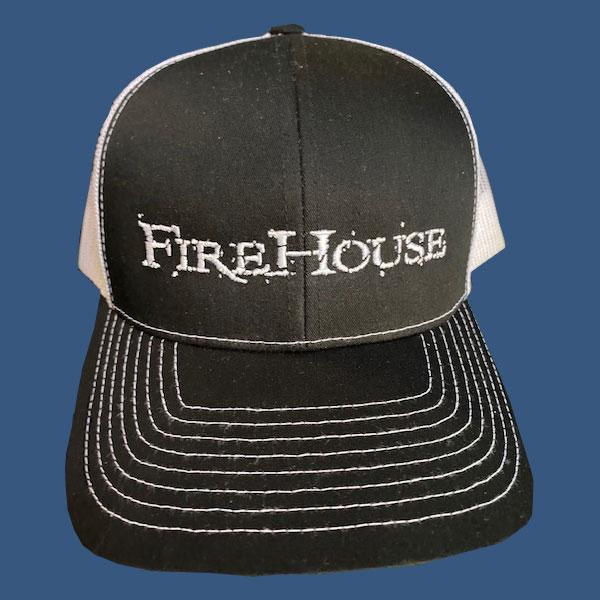 Black & White FireHouse Hat